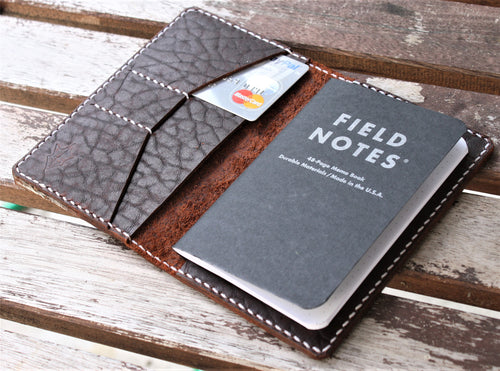 Handmade Cover for Field Notes Card Wallet SCRIBO Ol' Red Folklore Bison