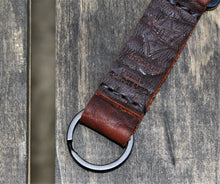 Handmade Leather Key Keeper Clip Keychain FUNIS FOB Bison Black