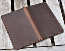 Handmade Cover for Field Notes Card Wallet SCRIBO Horween Leather Football Brown