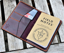 Handmade Cover for Field Notes Card Wallet SCRIBO Horween Leather Purple Cavalier
