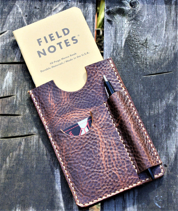 Handmade Cover Sleeve Field Notes Wallet NOTO Wheat Harvest Leather