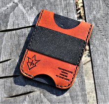 Handmade Leather Minimalist Wallet MINUS Saddle Tan Punisher