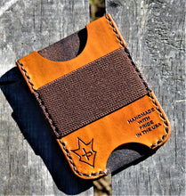 Handmade Leather Minimalist Wallet MINUS Tan Tombstone I'm Your Huckleberry