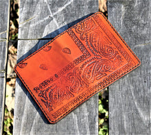 JP Leathercraft RAEDA Leather Wallet Bandana Tan Black