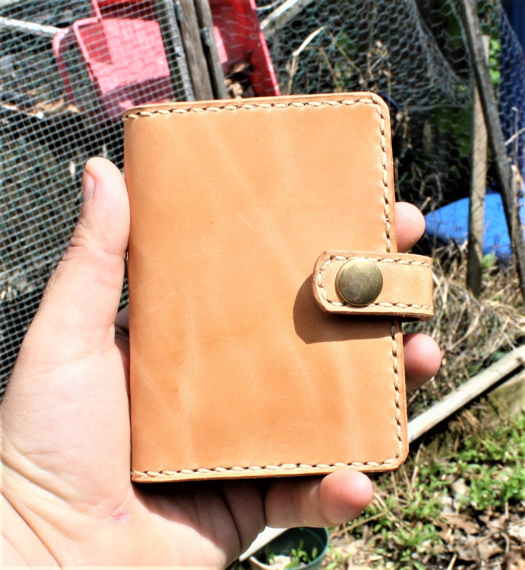 Leathercraft RAEDA Leather Wallet Wickett and Craig Russet