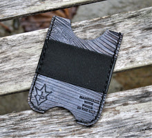 Handmade Leather Minimalist Wallet MINUS Gray The Mandalorian Beskar Steel Bar