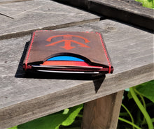 Handmade Leather Minimalist Wallet MINUS Red Gray Dragon Ball Saiyan Royal Crest Vegeta