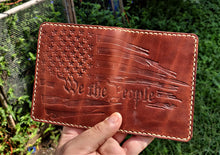 Leathercraft RAEDA Leather Wallet Wickett and Craig Medium Brown We The People USA