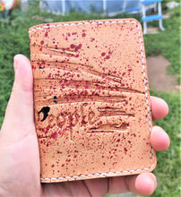 Leathercraft RAEDA Leather Wallet Wickett and Craig Natural We The People USA