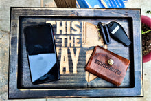 The Mandalorian This Is The Way Valet Tray Dump Cellphone Keys Cady Baltic Birch Black Distressed