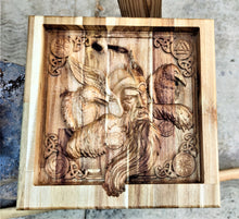 Odin Crow Vikings Valet  Catchall Tray Dump Cellphone Keys Cady Acacia Natural