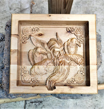 Odin Crow Vikings Valet  Catchall Tray Dump Cellphone Keys Cady Baltic Birch Natural