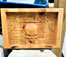 Valet Catchall Dump Tray 3D wood carving Metallica Baltic Birch wood 12x8