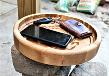 Coast Guard Military Valet 3D carve Wood Catchall Tray Dump Cellphone Keys Cady Baltic Birch Natural