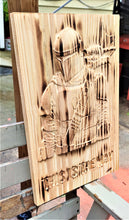 The Mandalorian 3D Carve Wood Sign Wall Art Man Cave This Is The Way