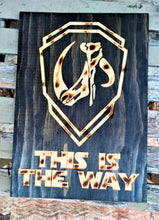 Star Wars The Mandalorian Carve Wood Sign Wall Art Man Cave Grogu Mudhorn Clan