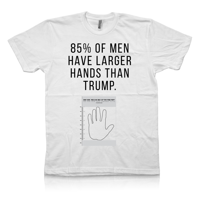 85% of Men Have Hands Larger Than Trump.