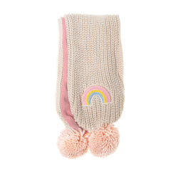 Dreamy Rainbow Knit Scarf