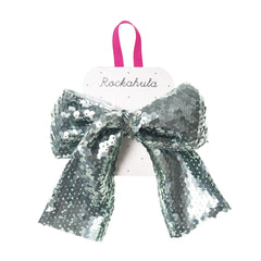 Super Sequins Bow Clip Blue
