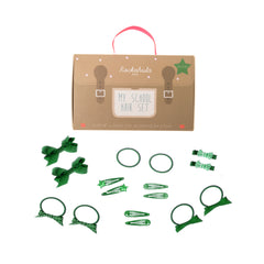 My School Hair Set - Green