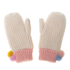 Dreamy Rainbow Knit Mittens