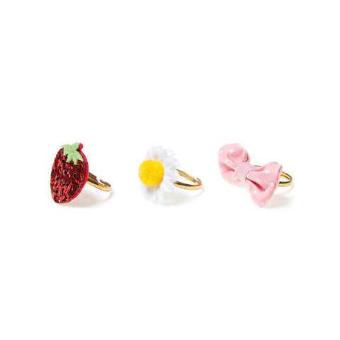 Sweet Strawberry Ring Set