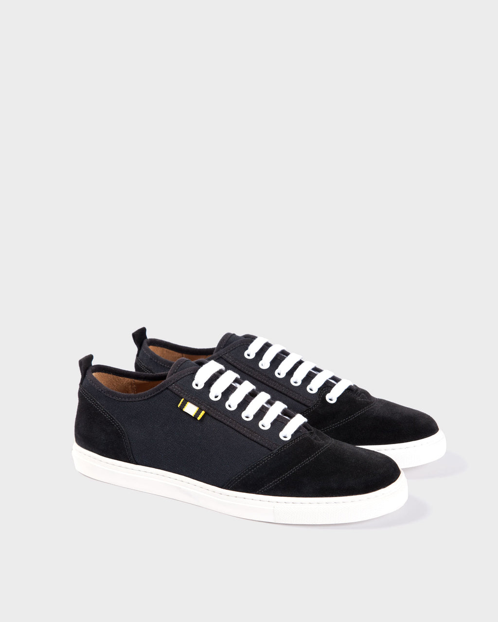 APR001 - Suede & Canvas - Black/Black