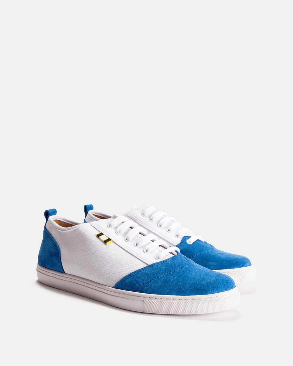 APR001 - Suede & Canvas - Royal/White