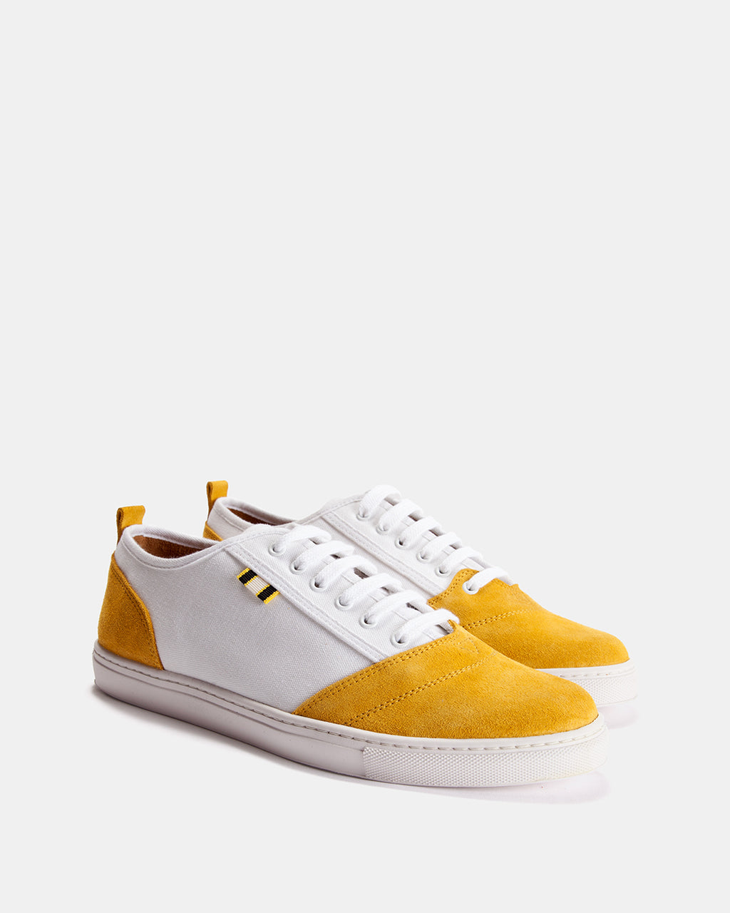 APR001 - Suede & Canvas - Gold/White
