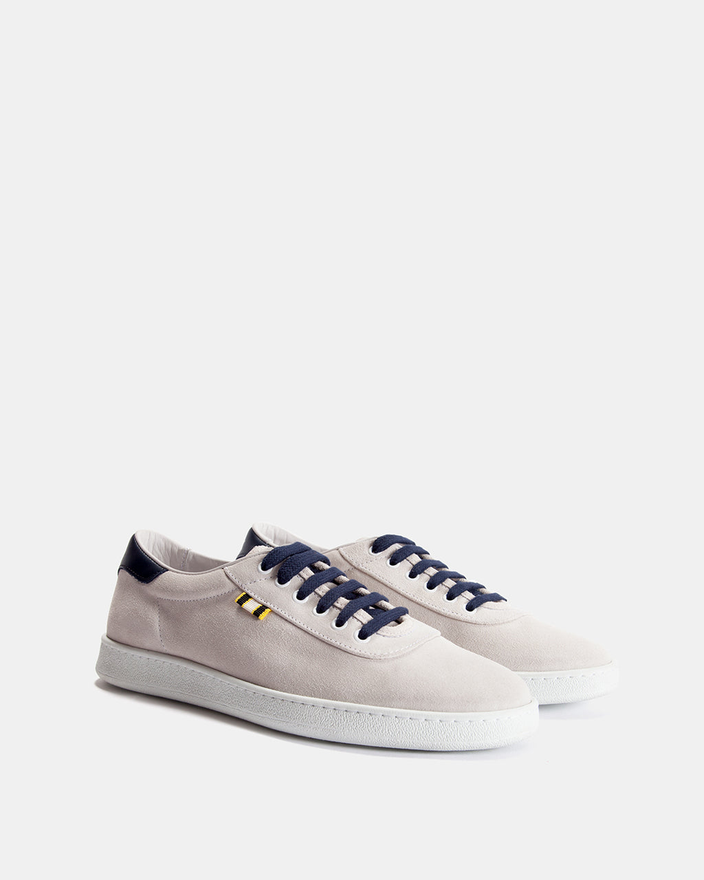 APR002 - Suede - White/Navy