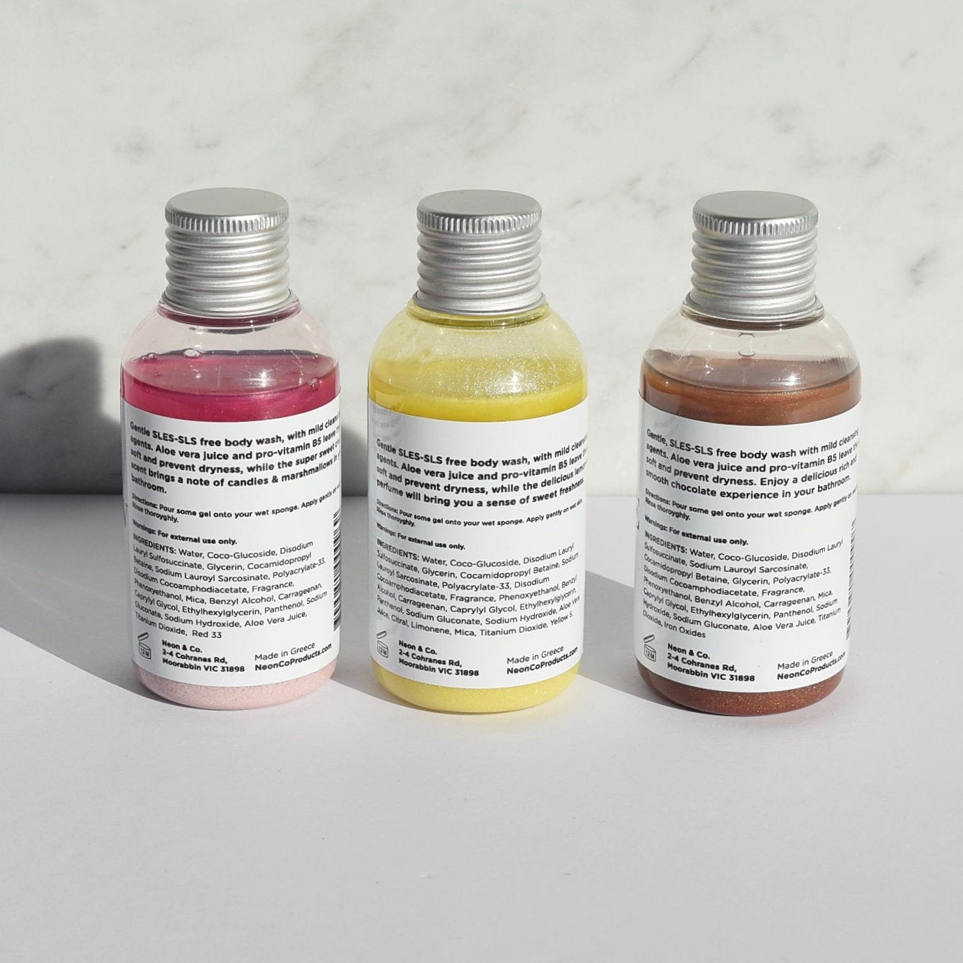 Neon & Co. GAIA 'Cake Shop' Bath Gel Trio (3 x 100ml)