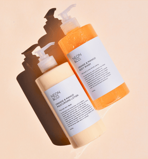 Neon Fresh 🍉 Orange & Mango Body Wash + Body Lotion (500ML x 2)