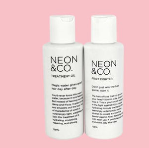 Neon & Co. Hair & Scalp Oil and Anti-Frizz Serum Duo