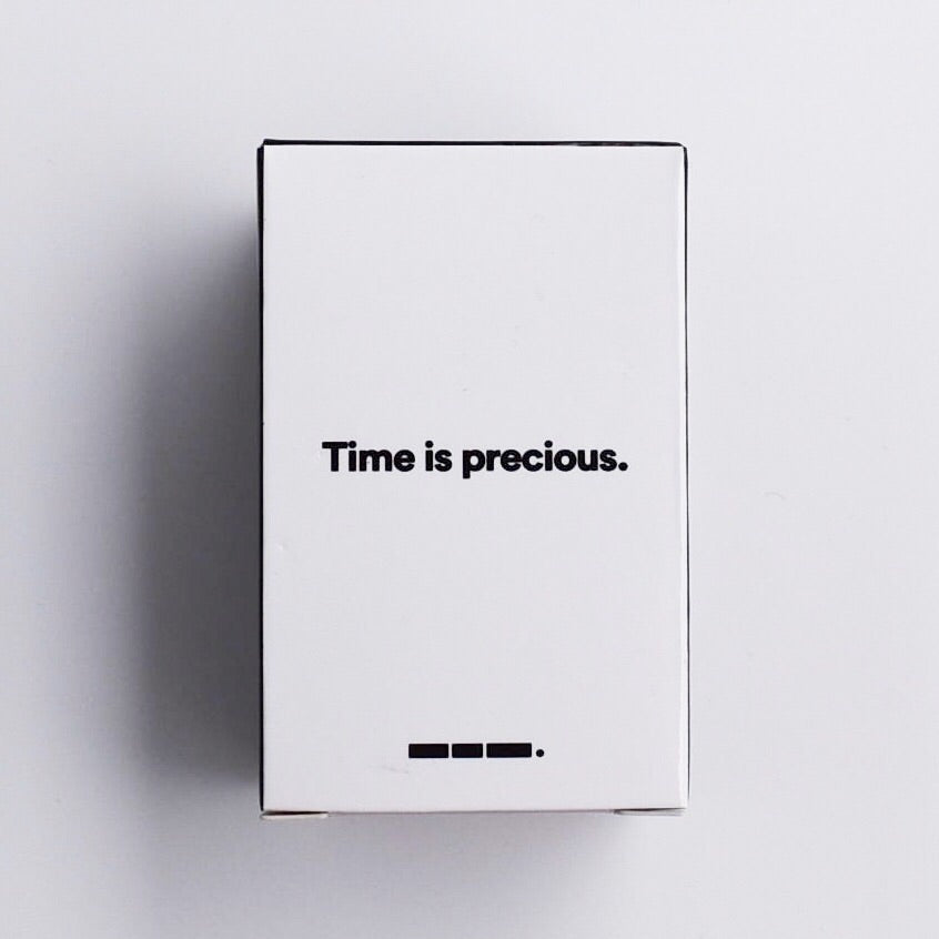 threelittlewords-int - 'Time is precious' Hair Shot (Box of 4) -