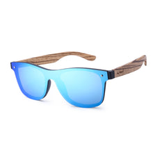 HU Wood - Frameless Vintage Wooden Carved Sunglasses