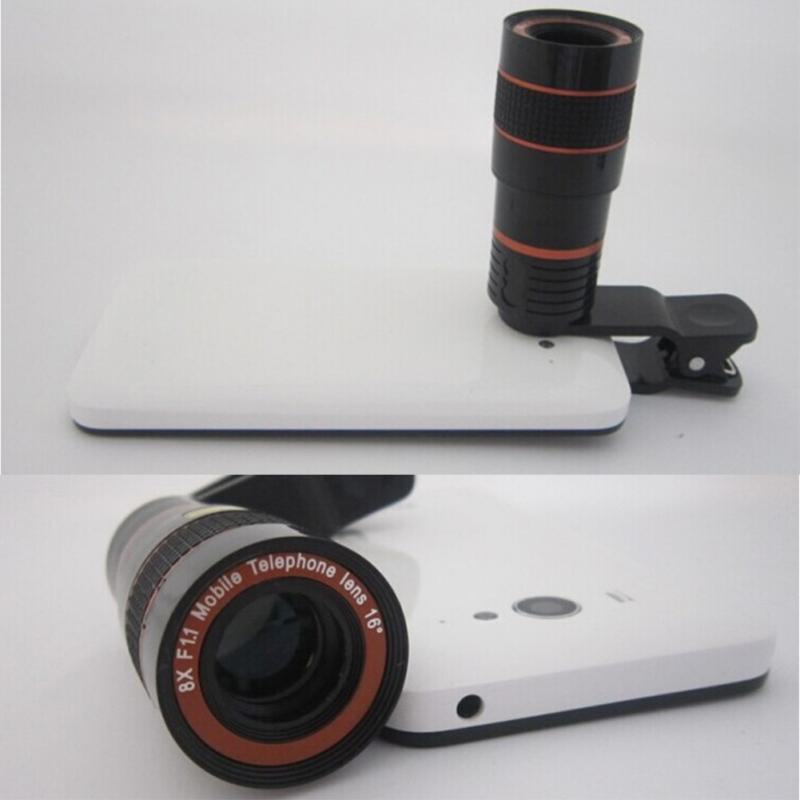 12X Zoom Clip On Camera Lens