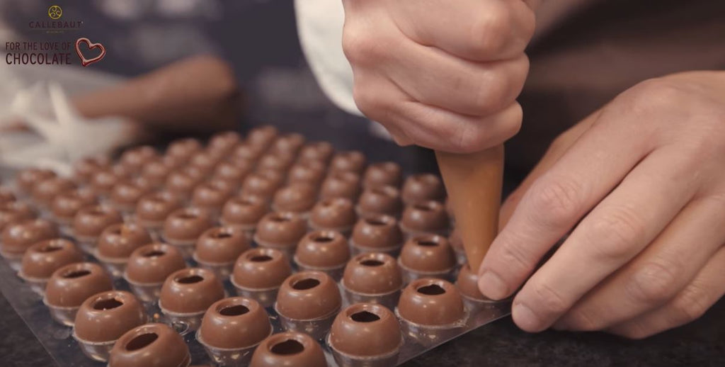 Fill the chocolate molds