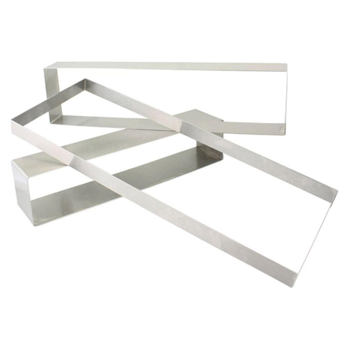 "0.5"" High Stainless Steel Rectangle Molds"