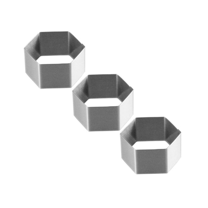 "Hexagon Mousses & Entremets Moulds [2,75"" to 5,5""]"