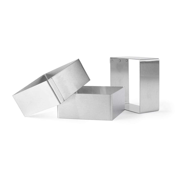 3 Square Frame Molds in Stainless Steel