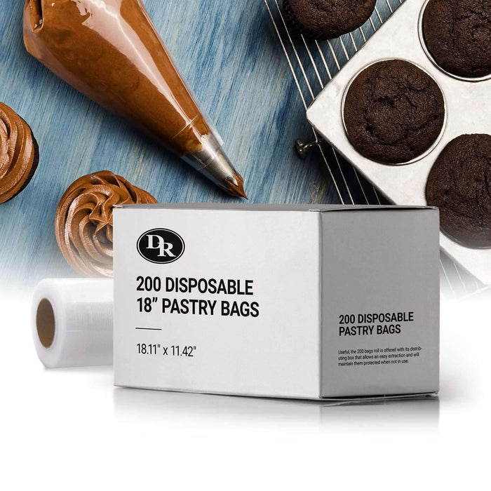 "200 Disposable 18"" Pastry Bags"