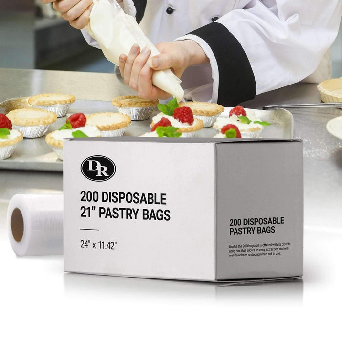 "200 Disposable 21"" Pastry Bags"