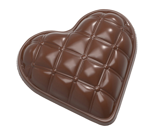 Quilted Heart Chocolate Mould