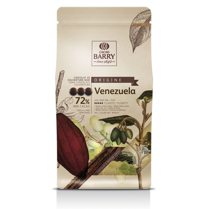 "Dark Chocolate Couverture Origin ""Venezuela"""