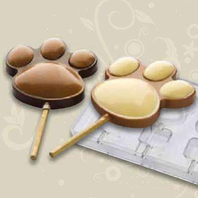 Bear Paw Lollipop Chocolate Mould