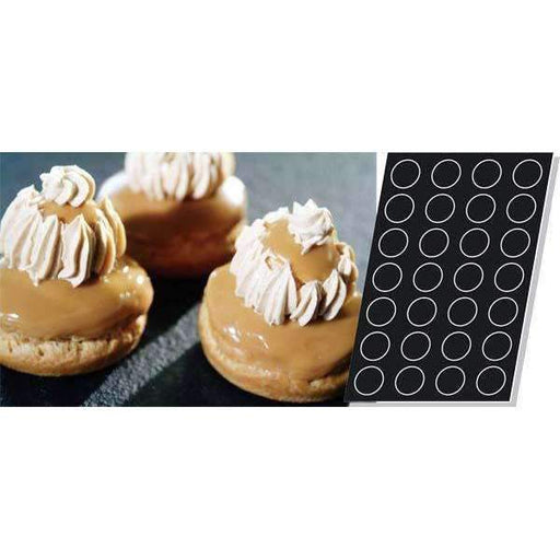 Big Choux pour Round Eclairs Silicone Mould