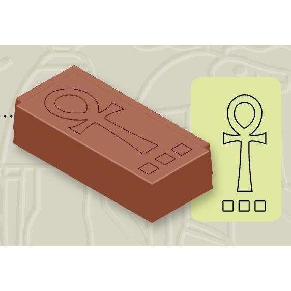 Chocolate Mould Ankh's Cross Rectangular Bonbons