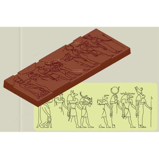 Chocolate Mould Egyptian Hieroglyph 83g Bars