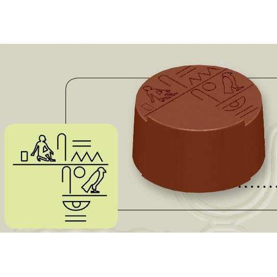 Chocolate Mould Egyptian Hieroglyph Round Bonbons