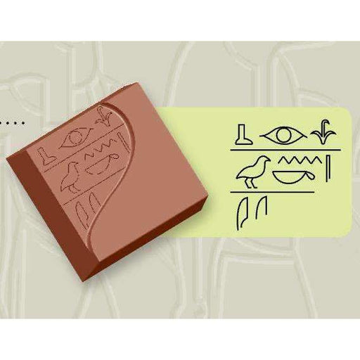 Chocolate Mould Egyptian Hieroglyph Square Bonbons I